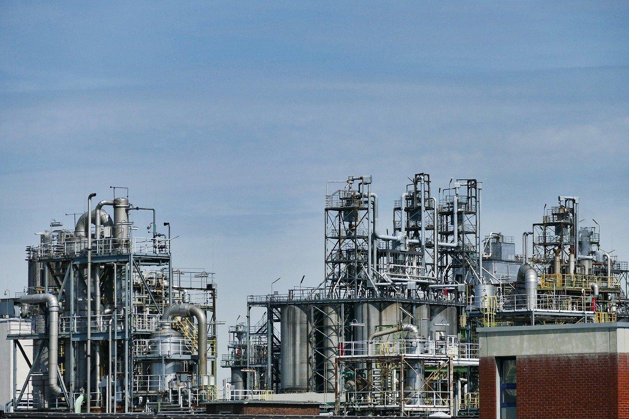 refinery, oil, industry